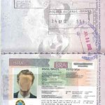Copy of a Brazilian Tourist Visa, which are actually stamps placed on the passport.